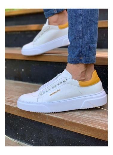 Chekich CH092 GBT Erkek Ayakkabı BEYAZ / SARI Beyaz